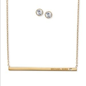 Michael Kors Bar necklace and earring set.